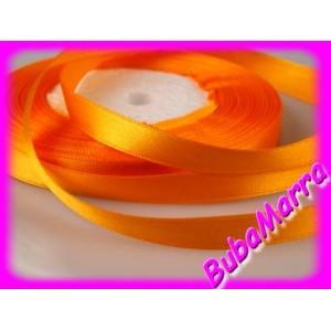 Atlasova Stuha Svatebni Dekorace 6mm Oranzova Bubamarra