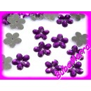 ~ NAŠÍVACÍ KVĚTINKY ~ SADA~ tmavě fialové