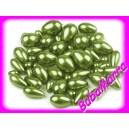 ~25g~ Voskované perly ~ kapka MIX Ø7-15mm~ Zelená
