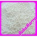 AKCE~ 500ks ~ Voskované perle ~ korálky~3mm~ Bílá