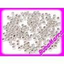 AKCE~ 500ks ~ Voskované perle ~3mm~ STŘÍBRNÁ