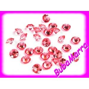550ks~ Dekorační broušené kamínky ~Ø4mm~ sv.růžová
