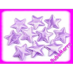 4ks ~ Hvězda lesk ~ Ø30mm ~ fialová