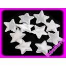 4ks ~ Hvězda lesk ~ Ø30mm ~ bílá