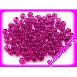 ~50ks~ Korálky ~ kuličky ~ Ø6mm ~ fialové