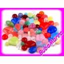 ~ Korálky skleněné 50g ~ mačkané ~ barevný mix