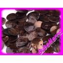 10ks~ Perleťové korálky ~ placička ~Ø15mm~ HNĚDÁ