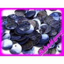 10ks~ Perleťové korálky ~ placička ~Ø15mm~ MODRÁ