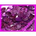 10ks~ Perleťové korálky ~ placička ~Ø15mm~ FIALOVÁ