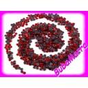 ~50ks~ 4mm ~ nažehlovací kameny~ HOT FIX ~ červená